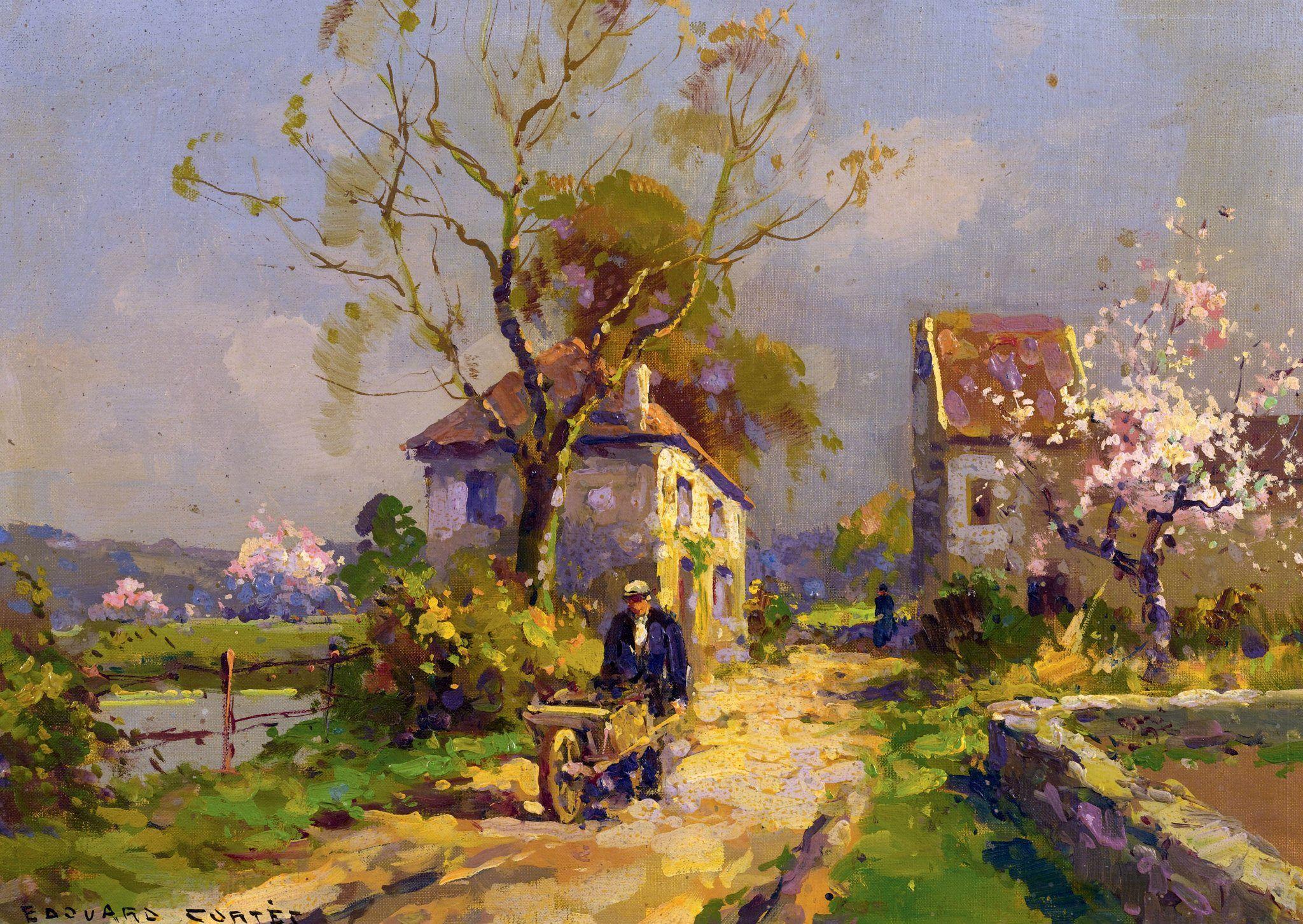 Extrêmement Édouard Leon Cortès (French painter) 1882 – 1969 A Spring Day, oil  IZ49