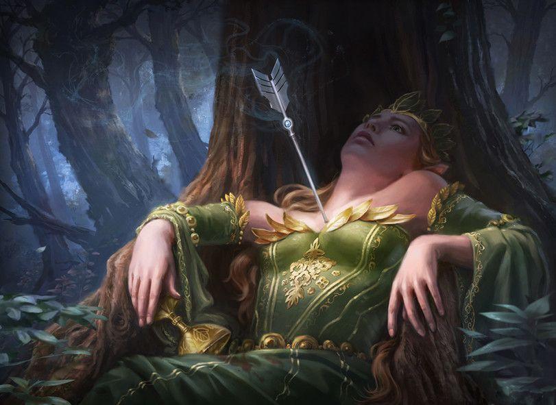 fantasy art,art,арт,красивые картинки,Эльфийская королева,Luisa Preissler