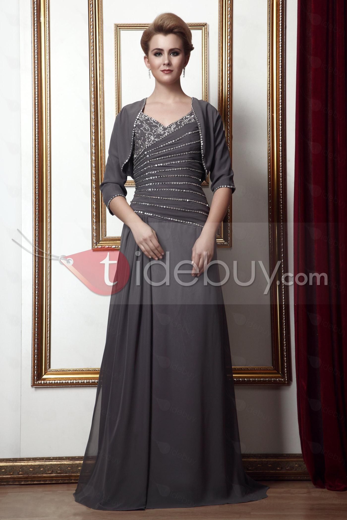 New style beading aline vneck floorlength alinaus mother of the