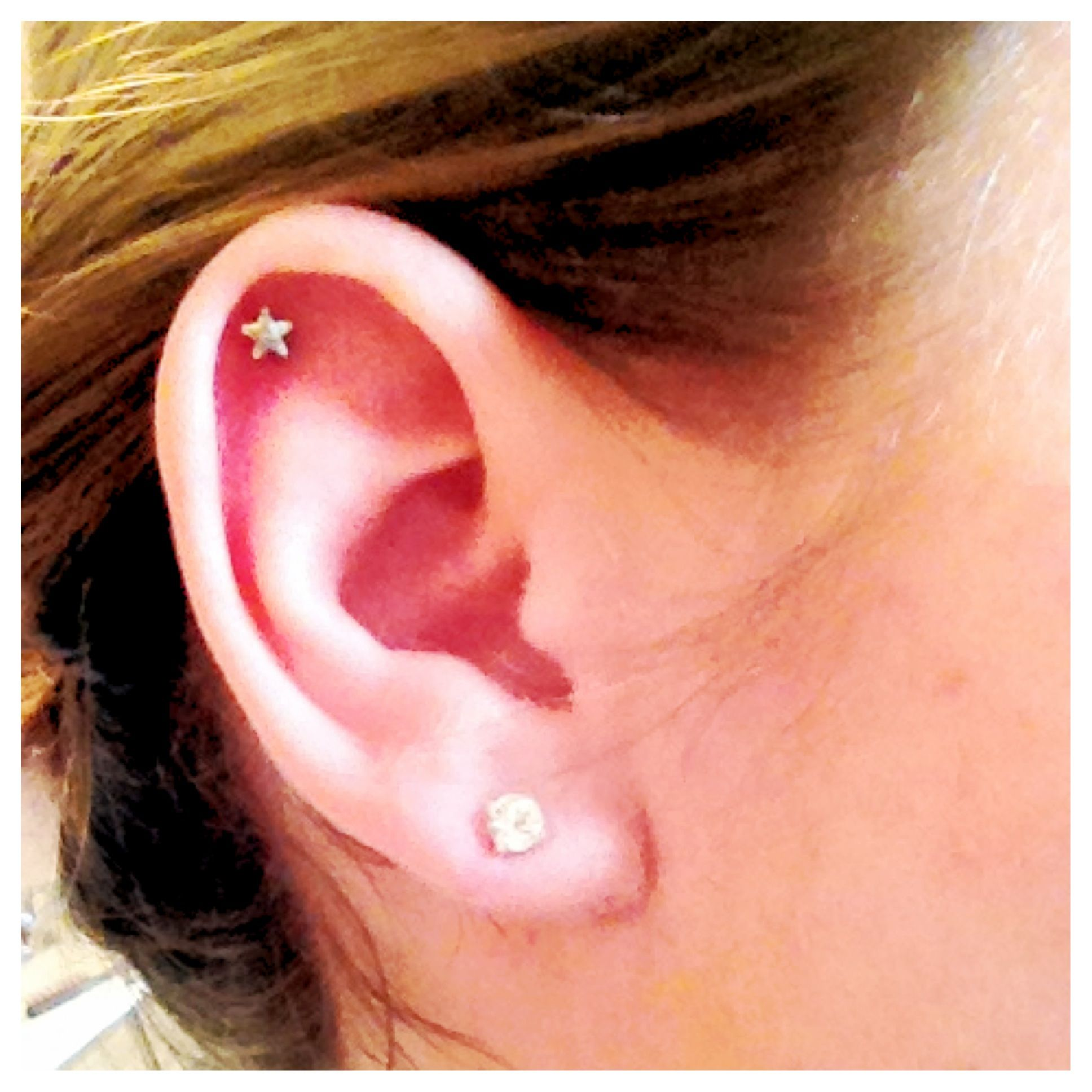 Cartilage piercing ideas  Star cartilage earring Sooo cute  jewelry  Pinterest  Cartilage