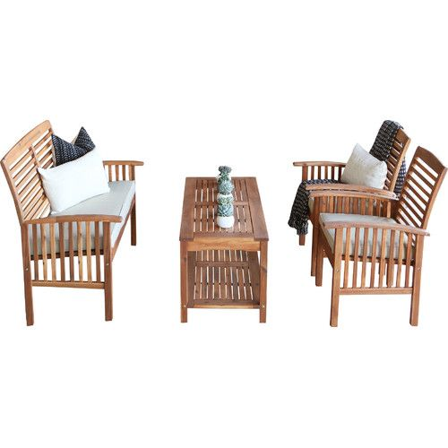 $399 but have to buy cushions Found it at Wayfair - 4 Piece Bench Seating Group with Cushion