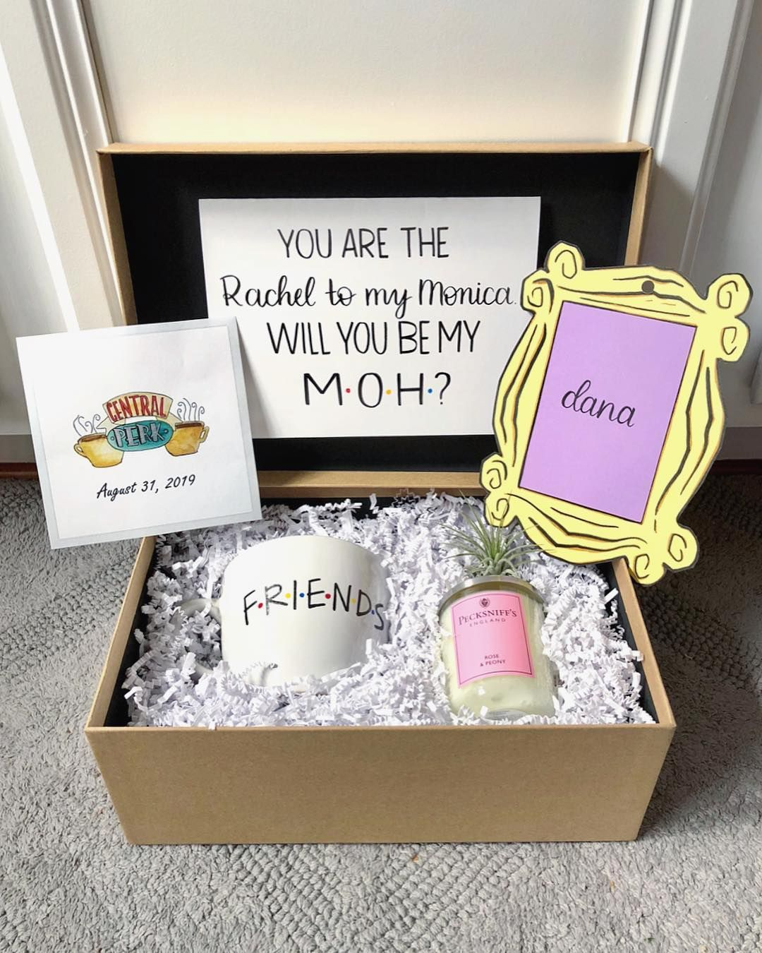 Diy Friends Tv Show Themed Bridesmaid Proposal Box 1 Friends
