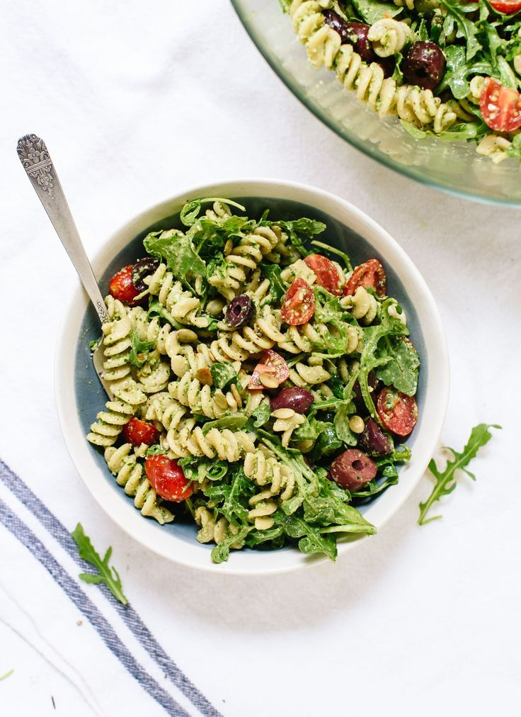 Pesto pasta salad  healthy living