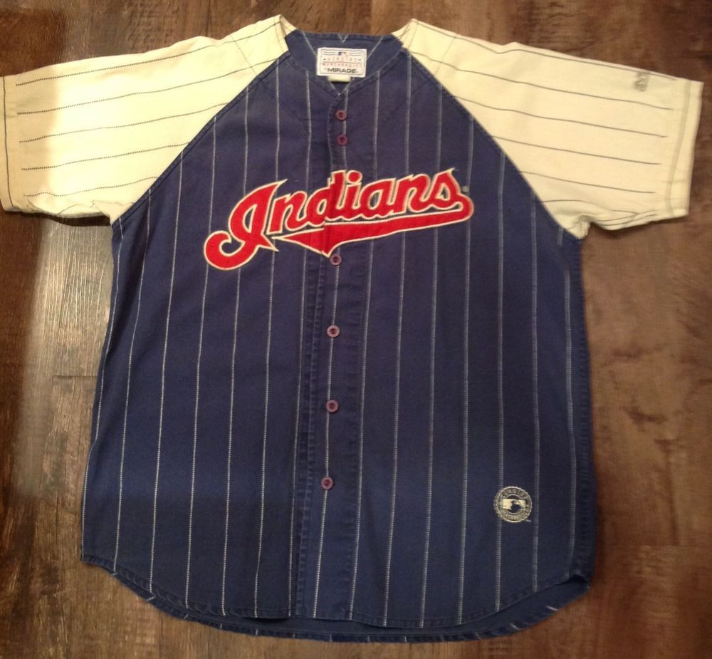 VINTAGE CLEVELAND INDIANS MIRAGE MLB BASEBALL THROWBACK JERSEY MEN S SIZE XL    9.99 (0 Bids 4d8e375f9
