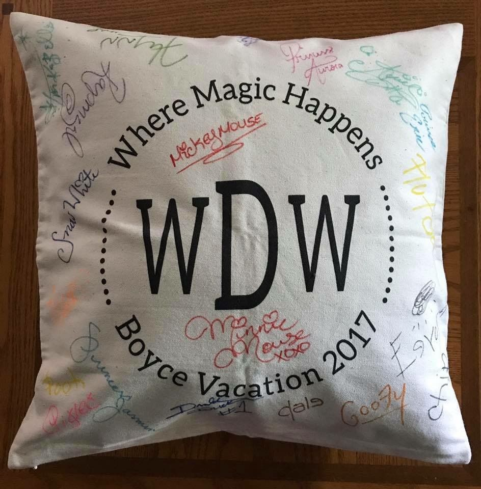 Diy Autograph Pillowcase: Disney World   DIY   Autograph Pillowcase   Disney World   Pinterest,