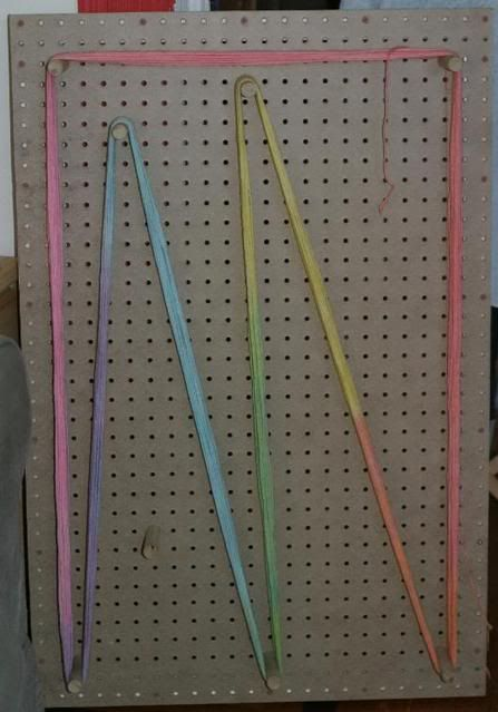 Warping Board Made From Pegboard No Instructions But Maybe It Uses