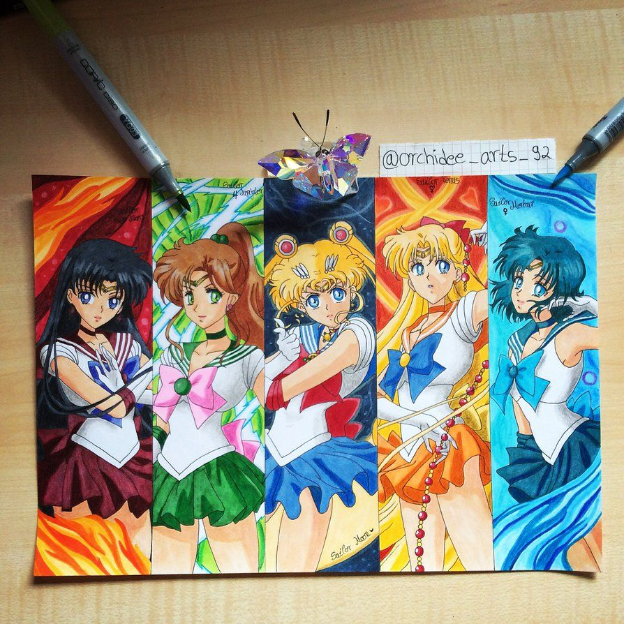 Sailor Moon Crystal 🌸 Drawing With Copic Markers
