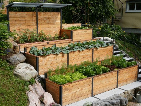 Hochbeet Garten Pinterest Hochbeet, Gärten und Gartenbeet - gemusegarten am hang anlegen