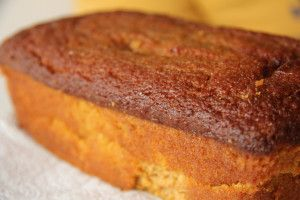 Pumpkin Cake SF GF  Make a glaze using sugar sub  1/2 cup confectioners' sugar 1/2 tablespoon milk 1/4 teaspoon vanilla extract 1 tablespoon pumpkin puree Pinch of cinnamon 1 tablespoon unsalted butter, melted and cooled