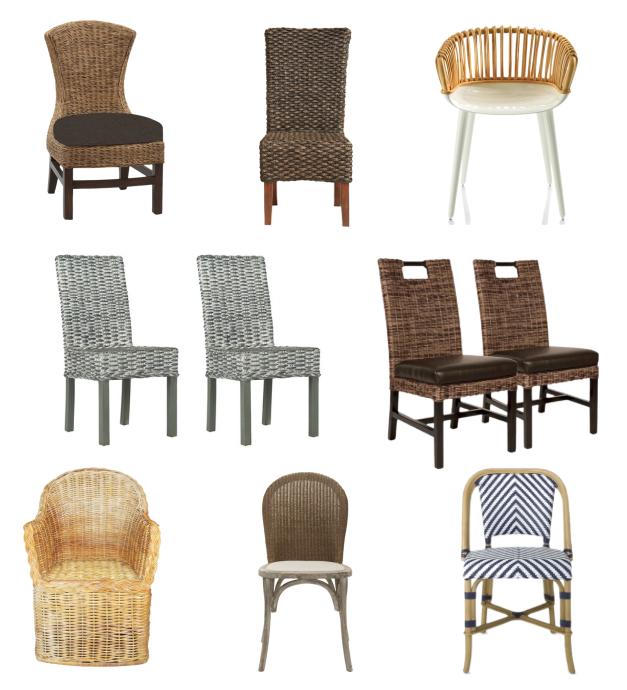 Sillas de comedor 5 tendencias llenas de estilo sillas for Sillas mimbre comedor