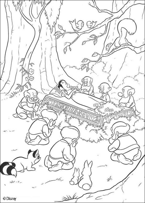 Coloring Page About Snow White Disney Movie Nice Drawing Of Snow