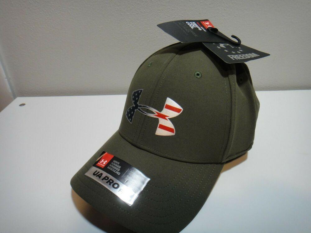 ea2257b4 Under Armour Mens Heatgear Freedom Pro Fit Hat Green Sample Hat Size ...