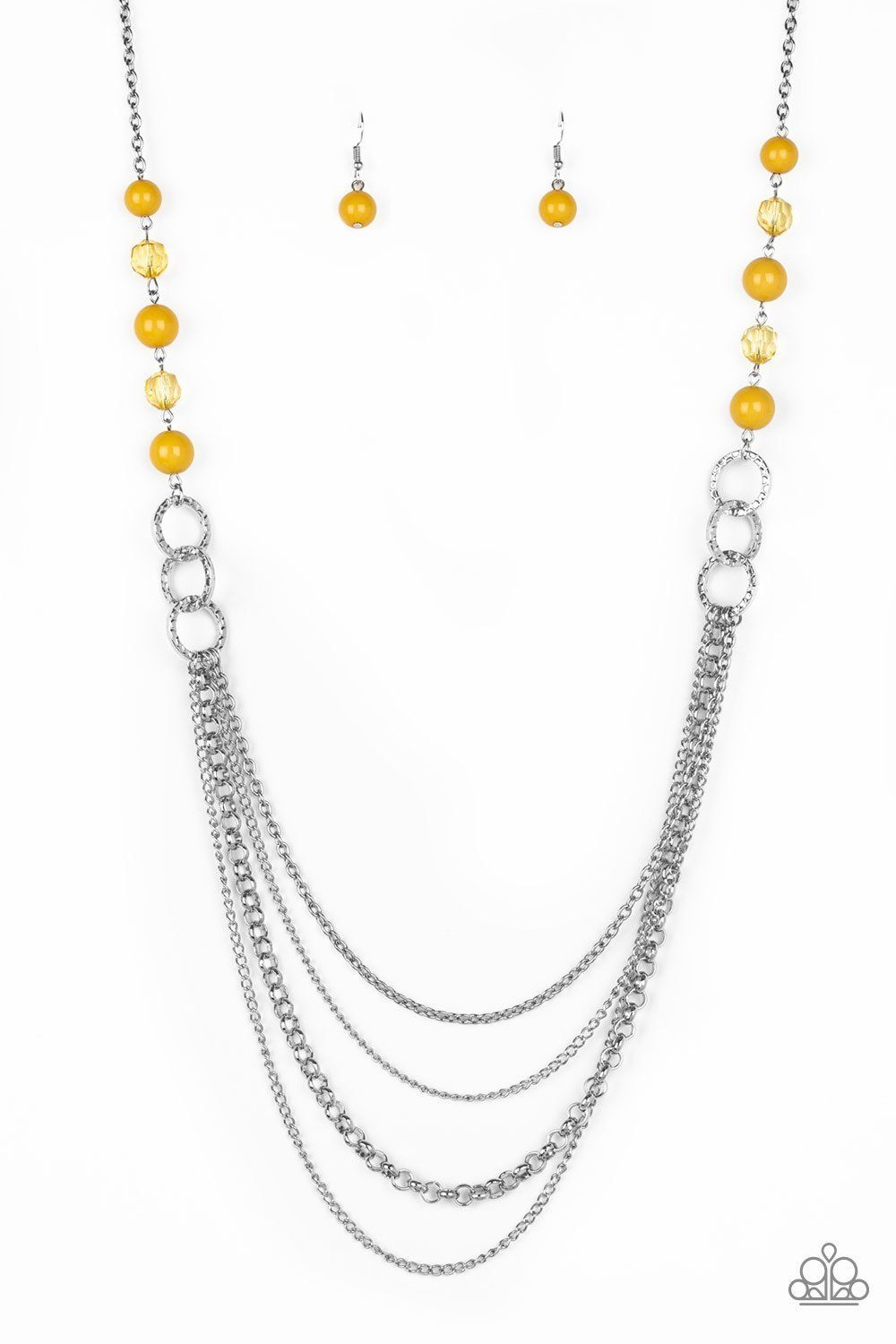 Vividly Vivid Yellow Necklace Yellow necklace, Beaded