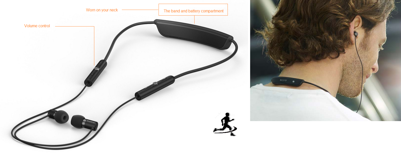 Sony SBH80 bluetooth headphones for running | Best earbuds