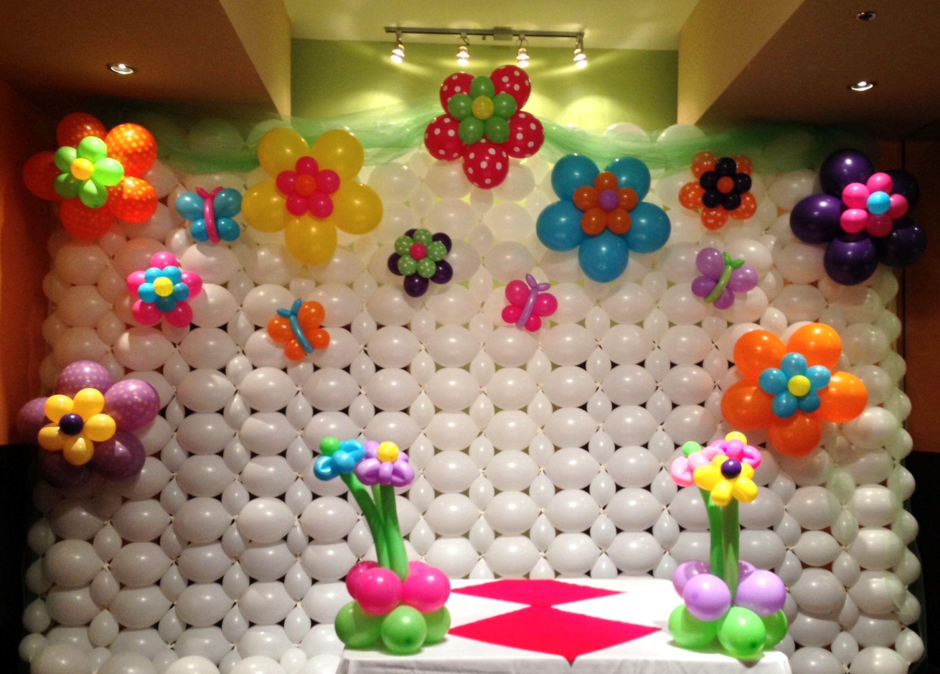 1st Birthday Balloon Wall Decorations Balloon Wall Baloon