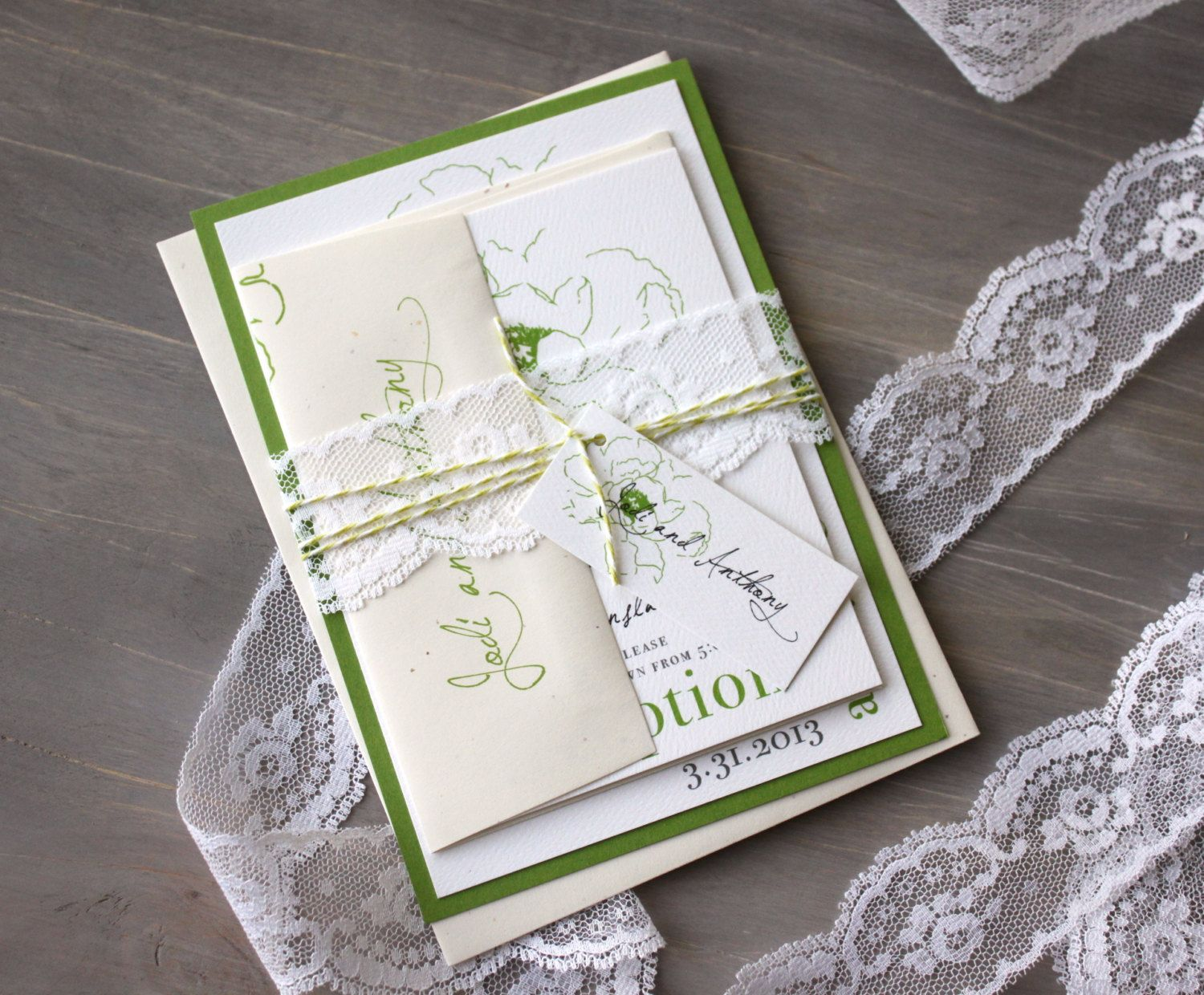 Lace Wedding Invitations, Wedding Invitations, Modern Wedding ...