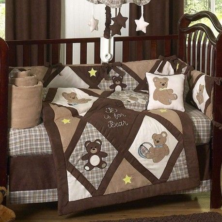 Teddy Bear Chocolate 9 Piece Crib Set By Sweet Jojo Designs Baby