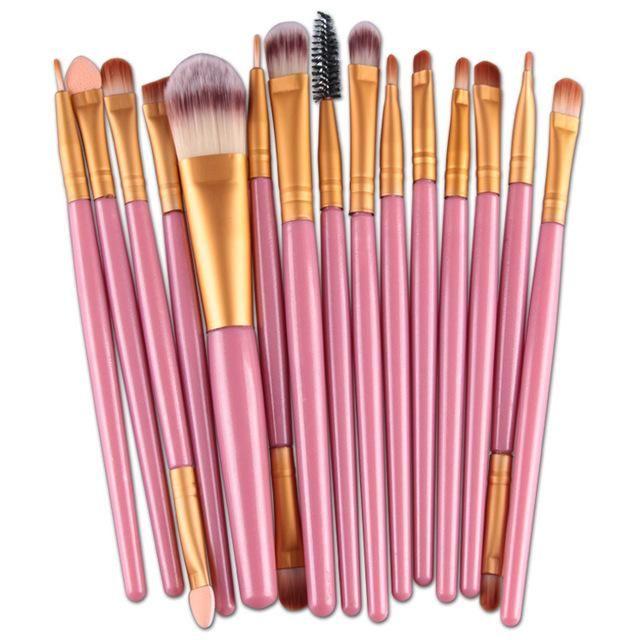 15-teilige Make-up-Pinsel – Pink B.