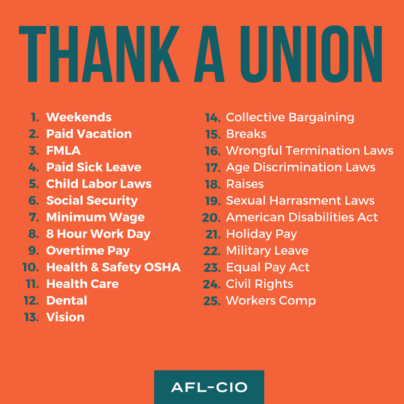 Support Our Right to Join in Union | Labor day quotes, Political quotes,  Labor union