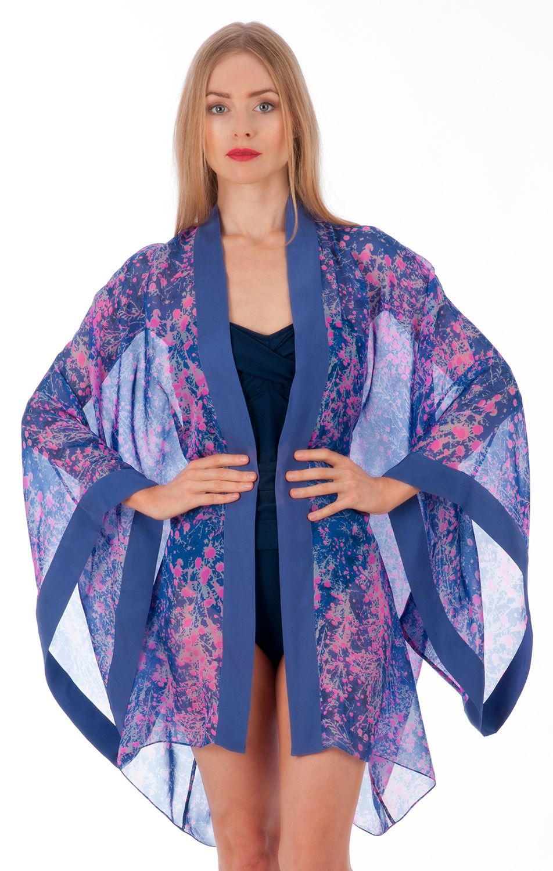 e010136a2f Silk  kimono in periwinkle