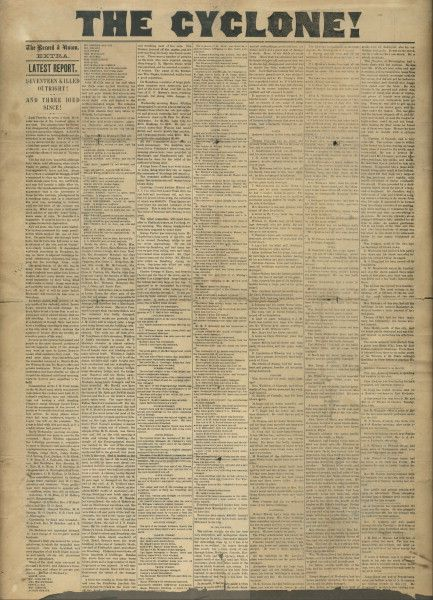 In 1883, a tornado devastated Rochester, Minn  Dr  William Worrall