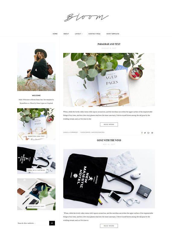 Wordpress Theme Responsive Wordpress Template Lifestyle Blog