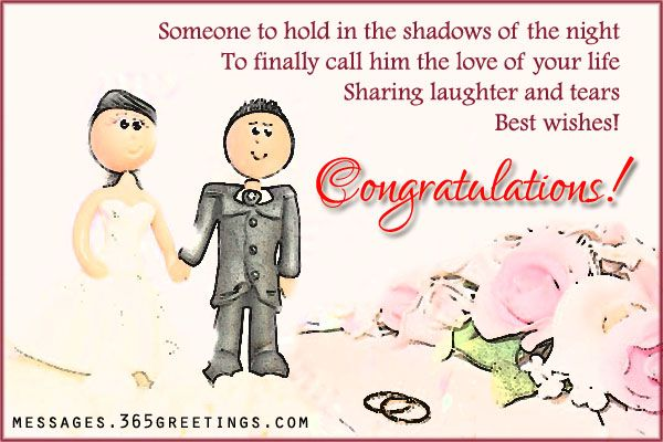 Wedding Card Messages Romantic, Wedding congratulations and Wedding ...