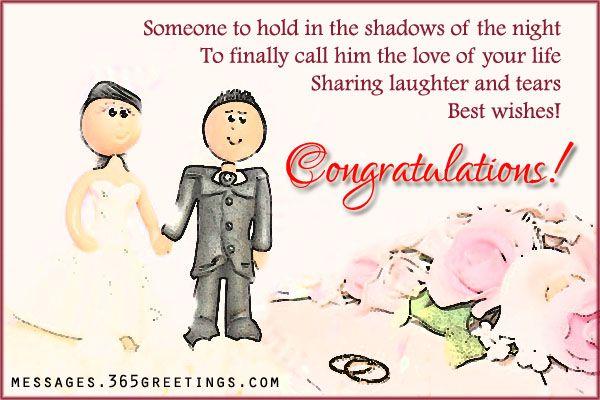 Wedding Congratulations Messages Card For Friends