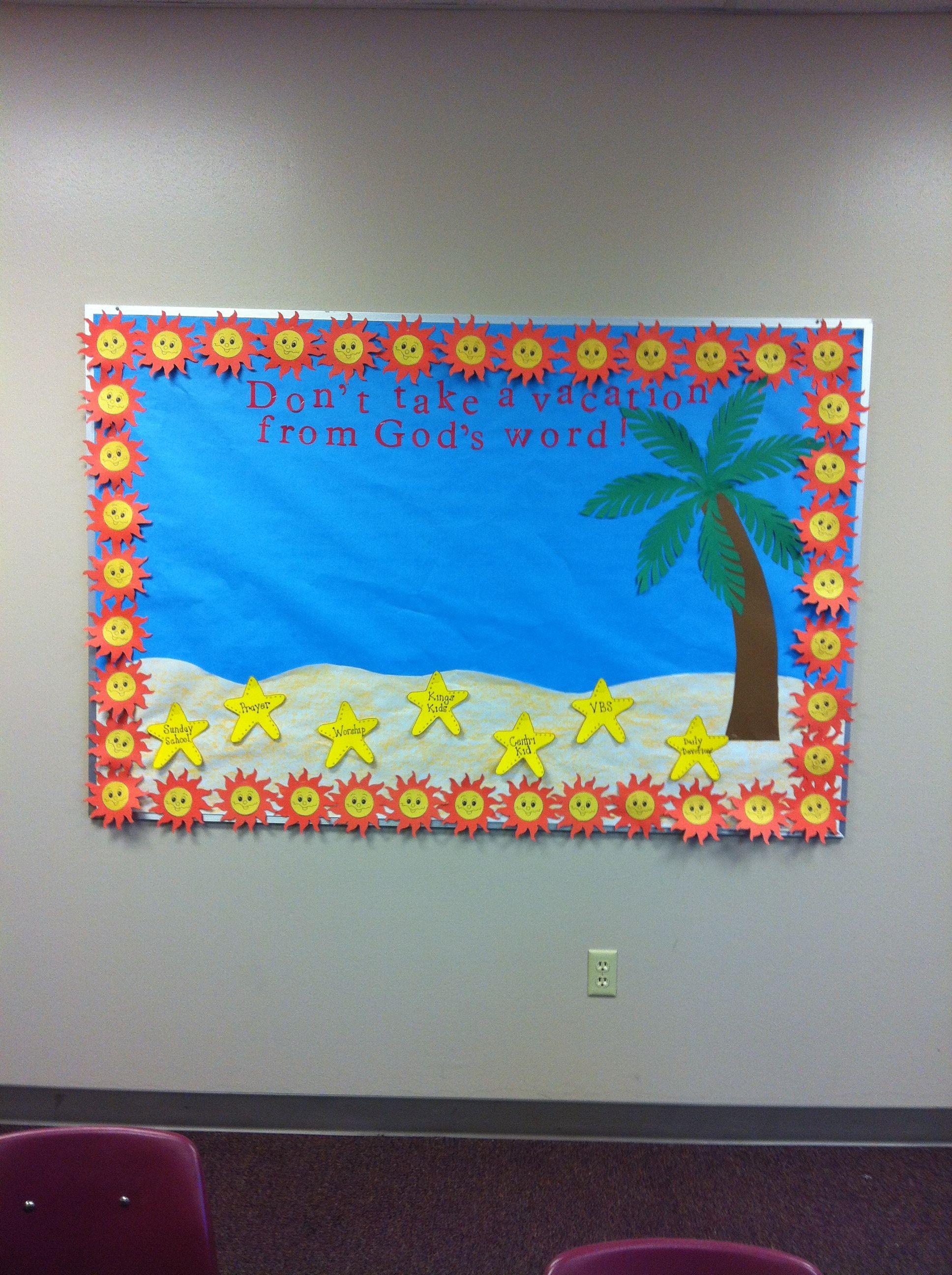 Summer Sunday School Bulletin Board Ideas