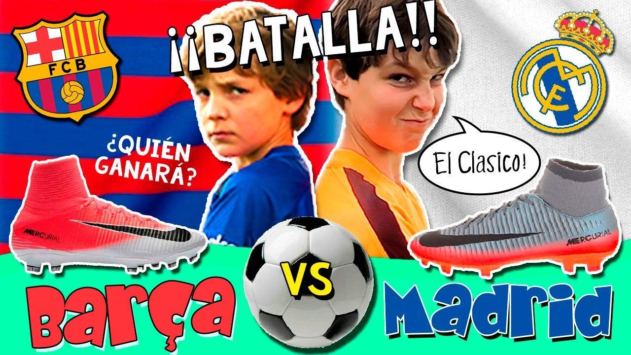 Batalla BARÇA vs REAL MADRID! ⚽️ RETO de Fútbol El