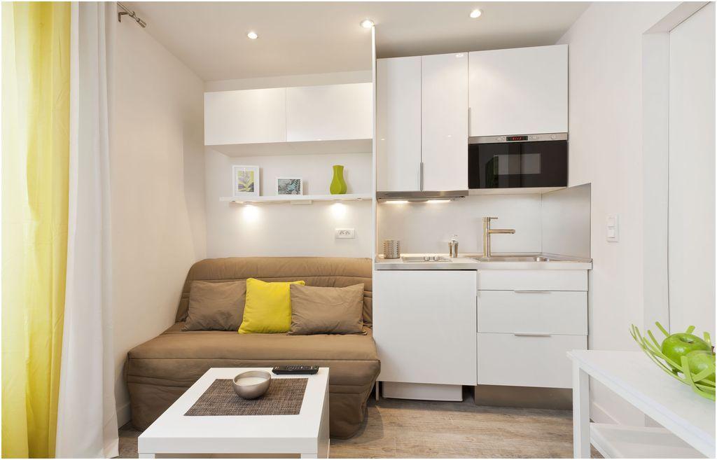 31 Prodigue Plan Studio 18m2 Photos Cottage Living Rooms Interior Design Living Room Flat Apartment