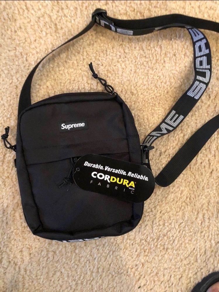 fe831502 SUPREME SS18 Shoulder Bag Black NWT #fashion #clothing #shoes #accessories  #mensaccessories #bags #ad (ebay link)