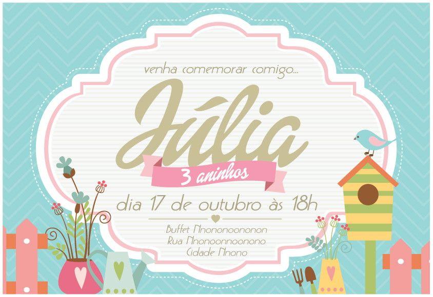 Convite Virtual Jardim Convite Virtual Pinterest Design