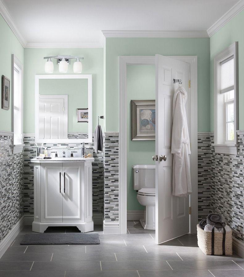 Bathroom Wall Color With Grey Floor