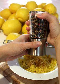 Barriga no Fogão: Como fazer o tempero lemon pepper