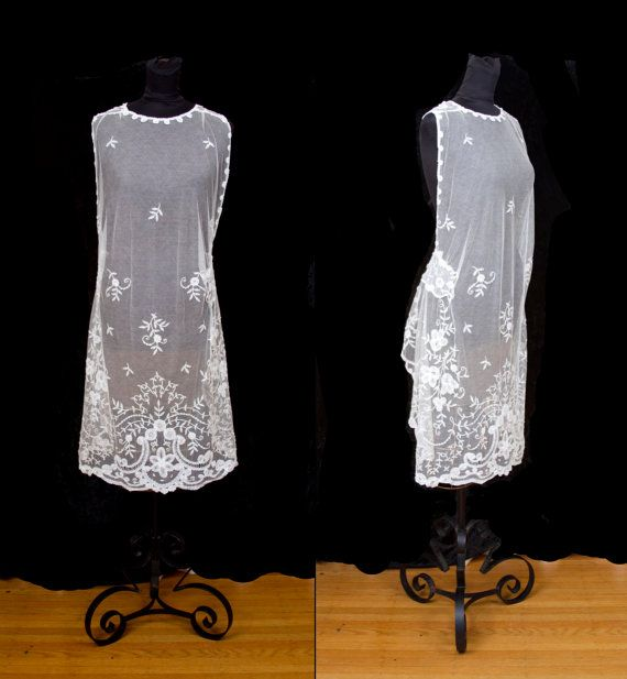 1920's Princess Lace Wedding Dress Remnant