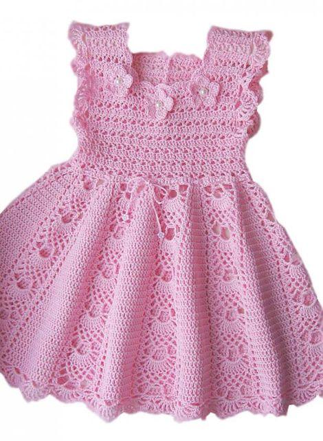 Fabuloso Vestido de crochê infantil para o verão | Modelos de vestidos  CP63