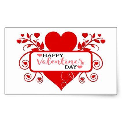 Happy ValentineS Day Rectangular Sticker  Holidays Diy Custom