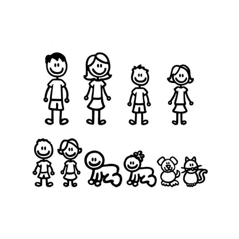 38 3 29 5 cm de dibujos animados de una familia numerosa - Casas para familias numerosas ...