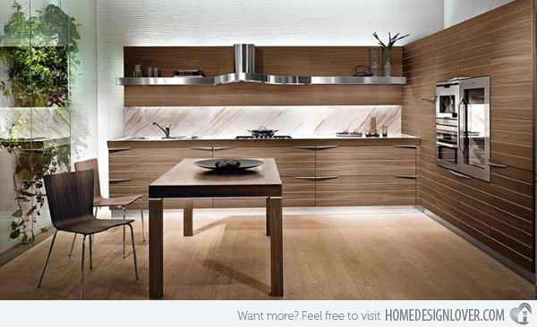 20 Sleek And Natural Modern Wooden Kitchen Designs  Wooden Captivating Timber Kitchen Designs Review