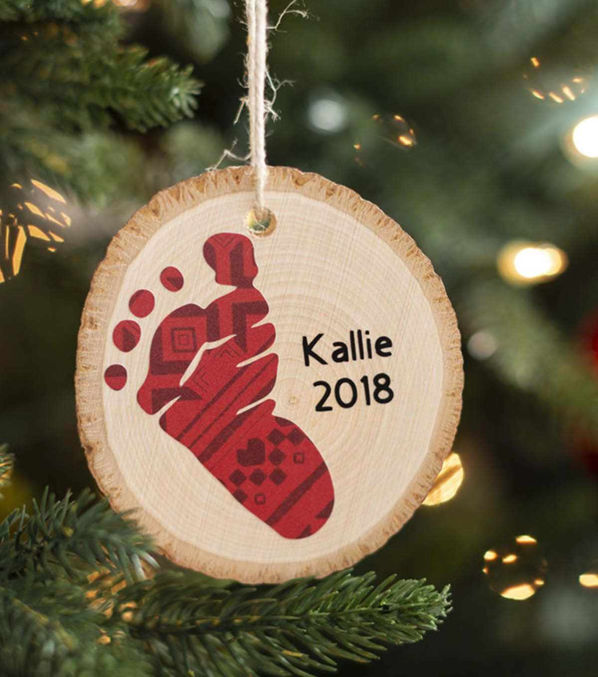 How To Make A Baby Footprint Ornament Baby Christmas Ornaments Baby Footprint Crafts Baby Footprints Christmas