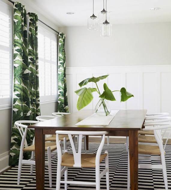 Palm Leaf Curtains Drapes Banana Tropical