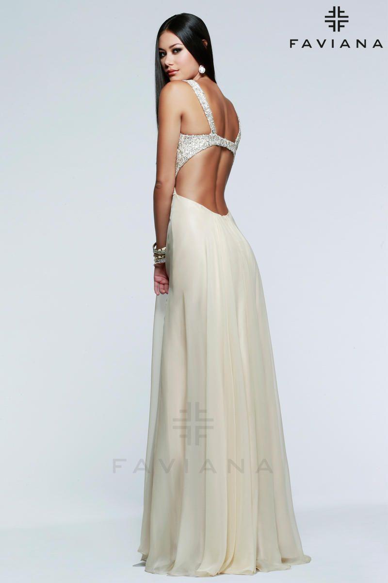 Faviana Dress 7595 Terry Costa Dallas Makeupmore Pinterest