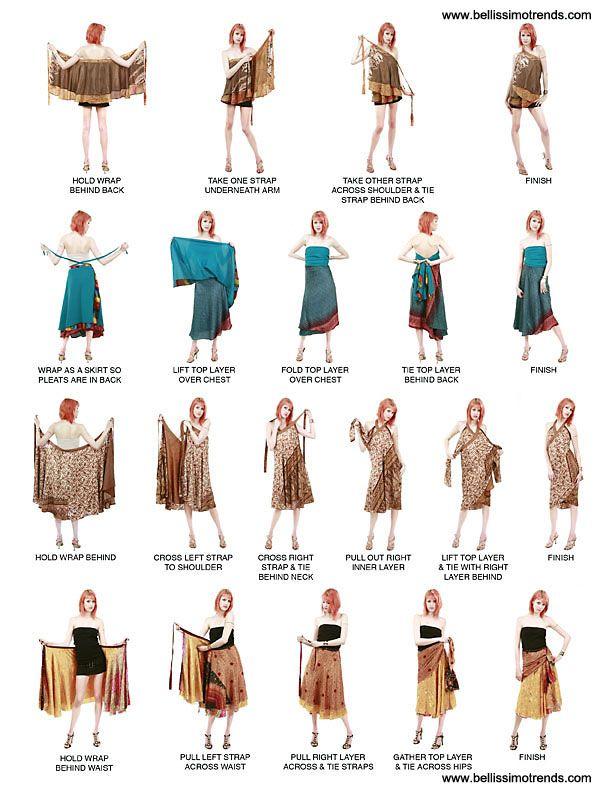 Pareos falda transformables multiusos | magic skirts | Pinterest ...