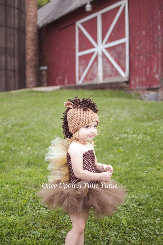 a6f93f5b61b Horse Tutu Dress - Cute Farm Animal Pony Halloween Costume - Baby Girl  Newborn 3 6 9 12 18 24 Months 3T 4T 5 6 7 8 10 12 - Brown Tan Mane