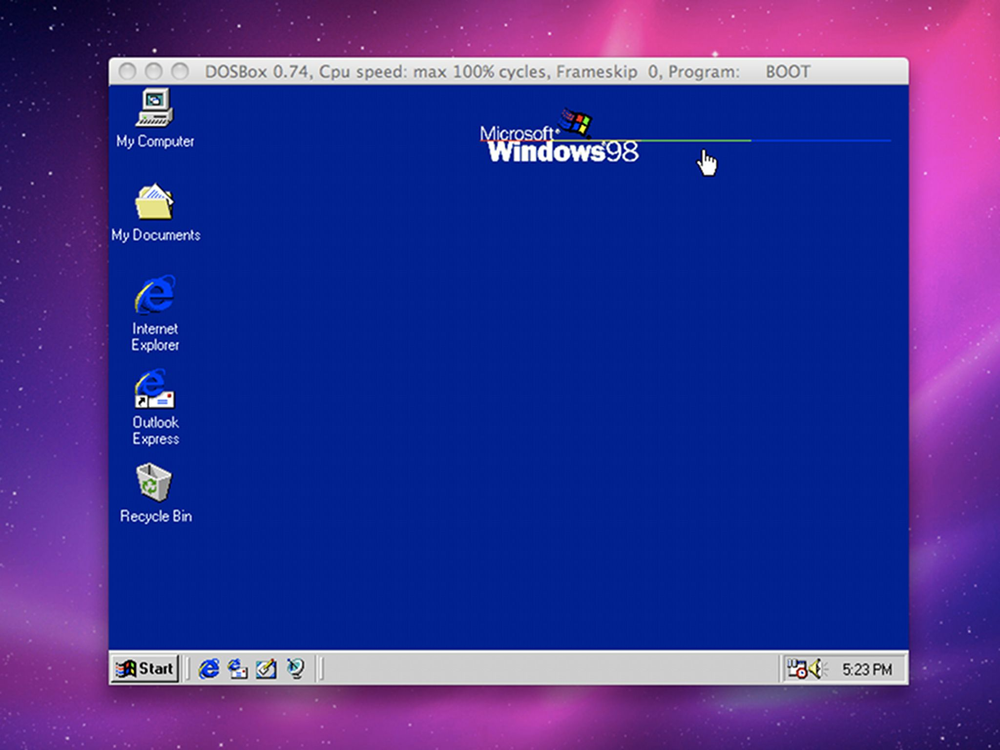 Win 98 in Dos Box on Mac OS X Snow Leopard! Woo Hoo! #DosBox