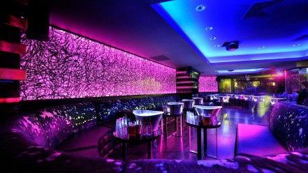 architecture design bar lighting night club neon lounge wallpaper