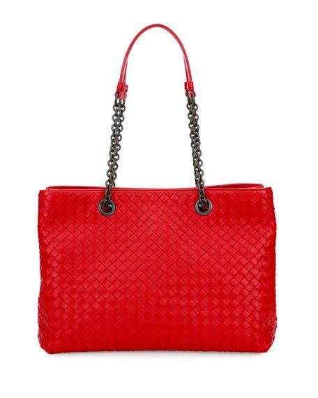 5f282da4e24d BOTTEGA VENETA Intrecciato Medium Double-Chain Tote Bag