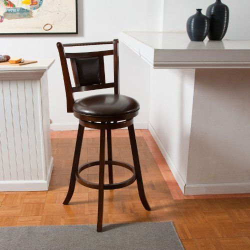 Hillsdale 24 In Trinidad Swivel Counter Stool Color Brown