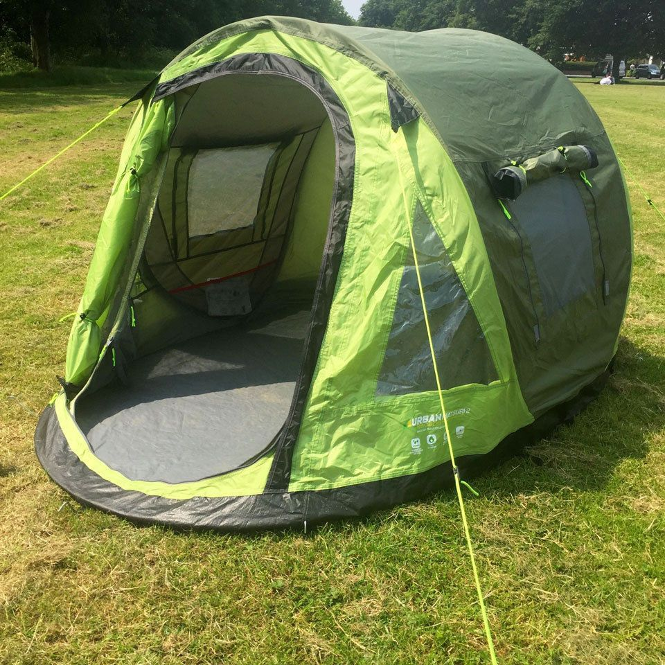 Urban Escape - Matsuri 2 Man Green Popup (Pop up) Tent - C&ing / Festivals in Sporting Goods C&ing u0026 Hiking Tents u0026 Canopies & Urban Escape - Matsuri 2 Man Green Popup (Pop up) Tent - Camping ...